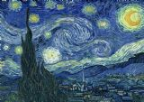Van Gogh, Vincent: Starry Night. Fine Art Print/Poster. Sizes: A4/A3/A2/A1 (002)